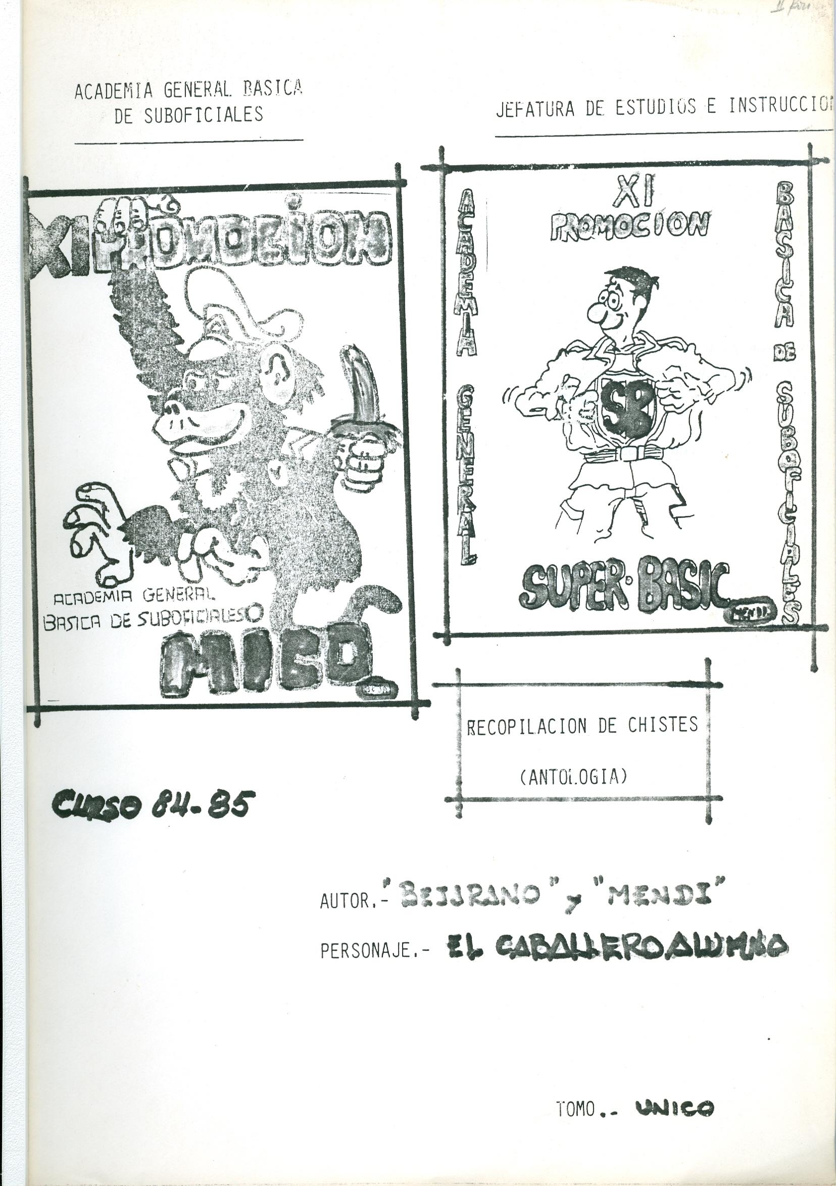 Antología Recopilación chistes. XI Prom.