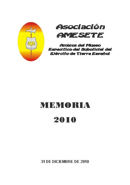 AMESETE. WEB. Memoria 2010