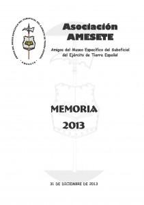 AMESETE. Web. Memoria 2013