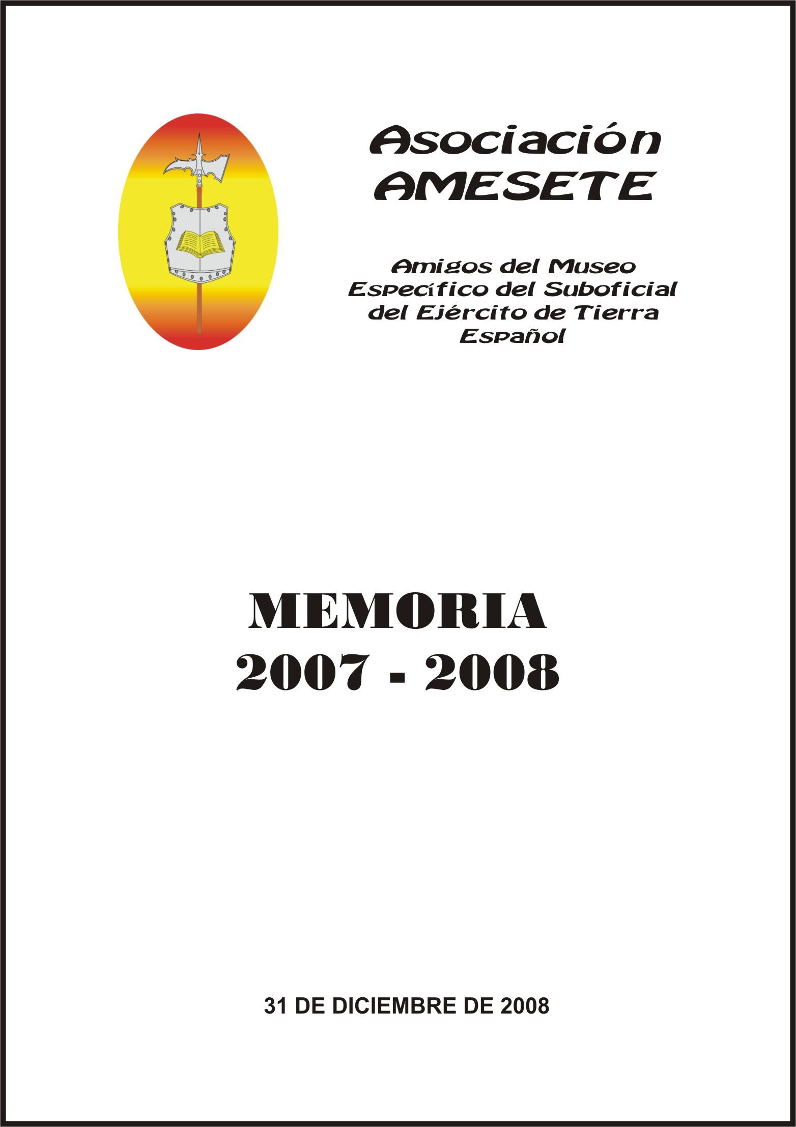 AMESETE. WEB. Memoria 2007-2008