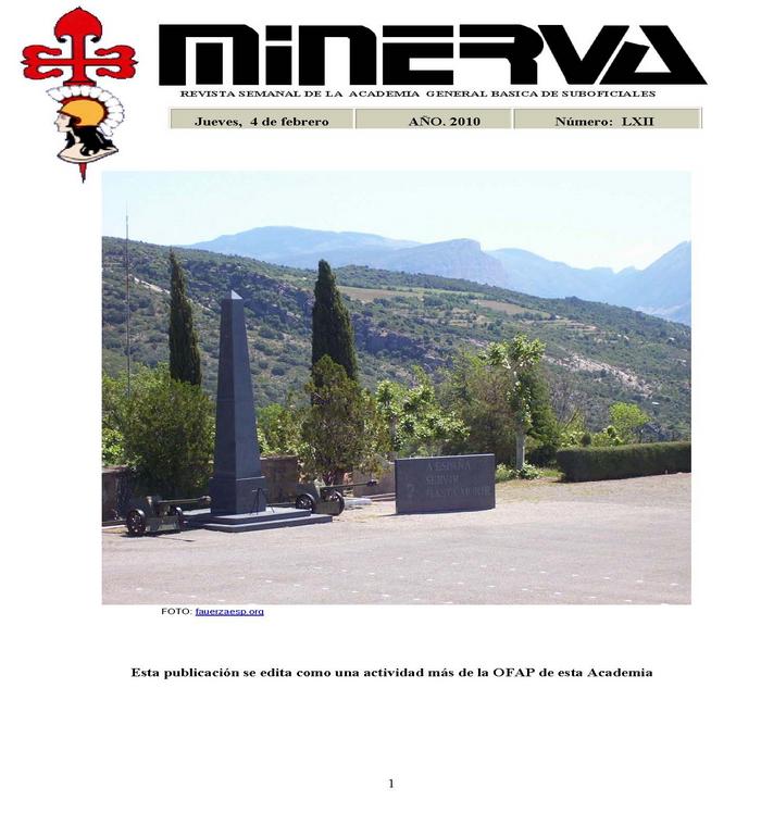 Revista MINERVA.RED núm. 62