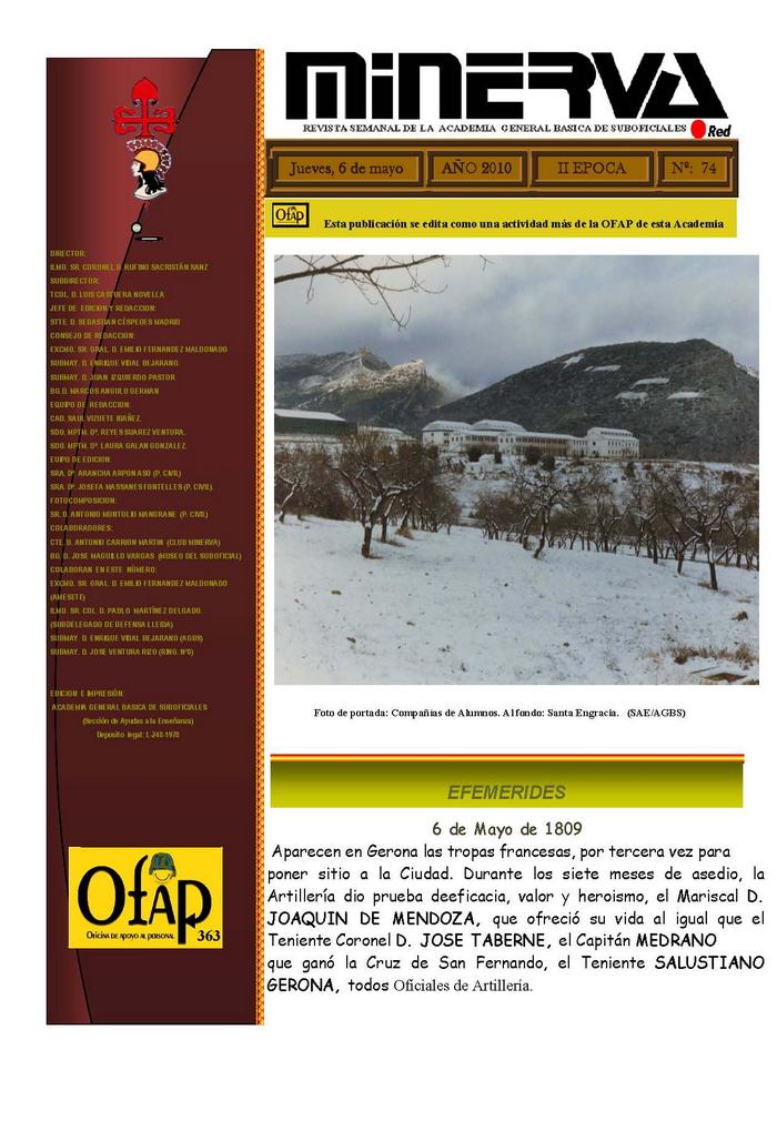 Revista MINERVA.RED núm. 74
