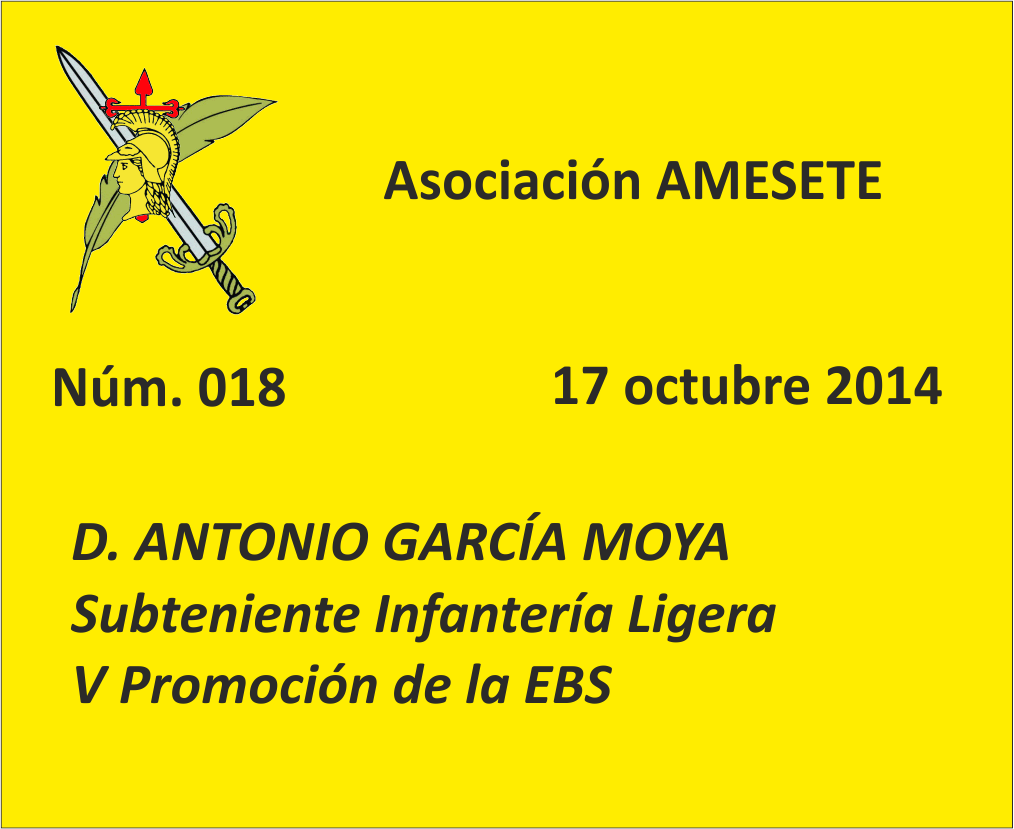 SUBOF. ESC. 018. Antonio García Moya